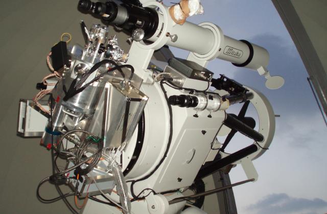 飯舘観測所にあった時の60cm望遠鏡。